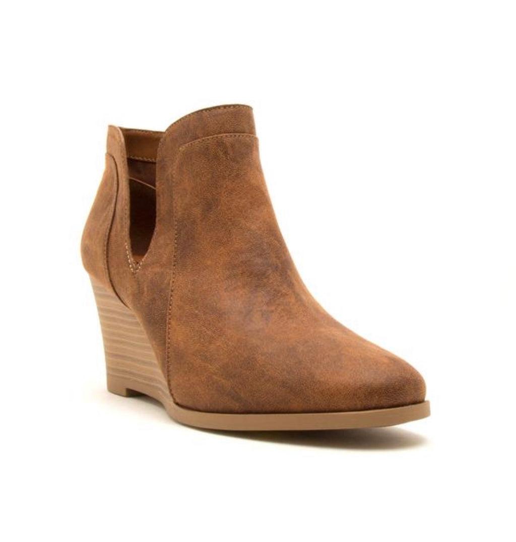 Wedge Bootie - Camel