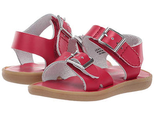 Leather Sandals-Tide Apple Red