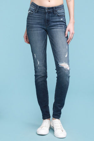 Avery Distressed Skinny Jeans