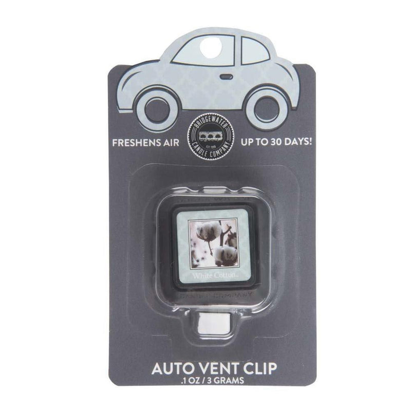 Bridgewater Auto Vent Clip-White Cotton