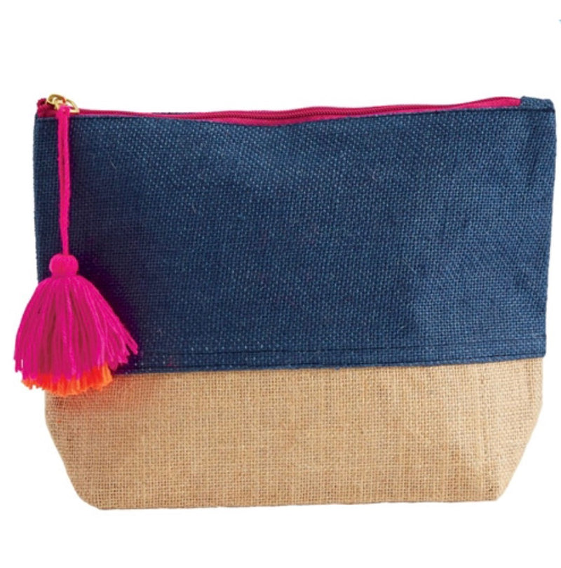 Color Pop Jute Zipper Case