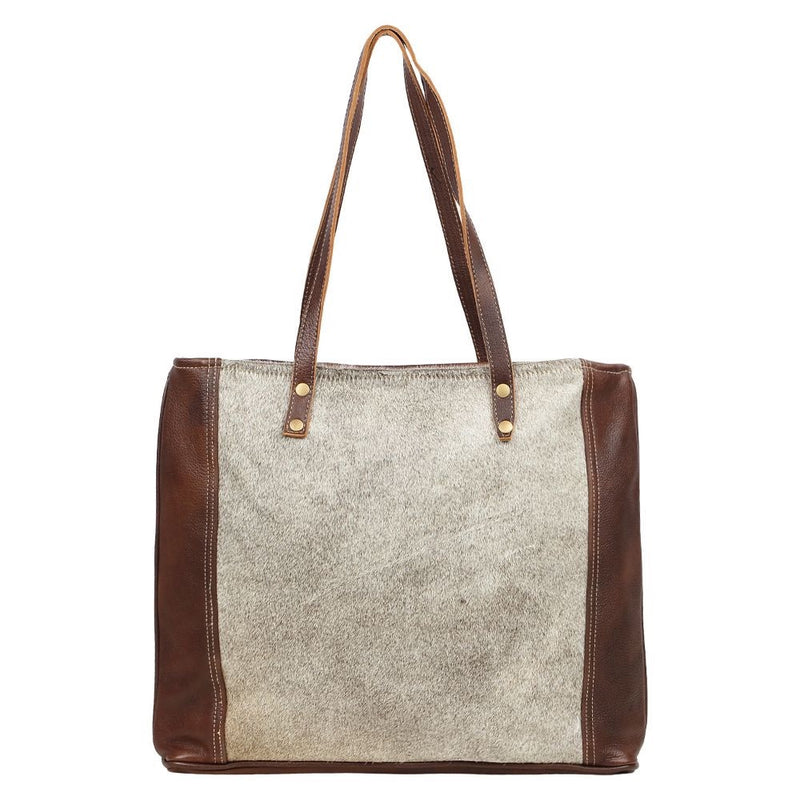 Myra Bag-Silvered Tote Bag