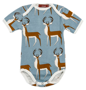 Organic Cotton Onesie-Blue Buck