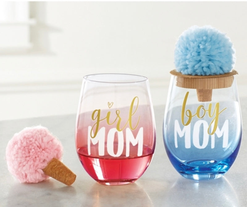 Pom Pom Wine Stopper Wine Glass
