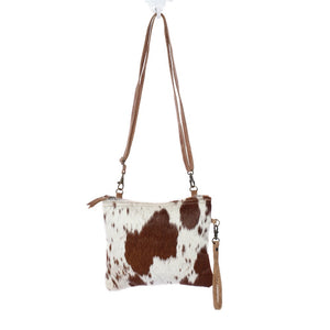 Myra Bag-White & Brown Shade Bag