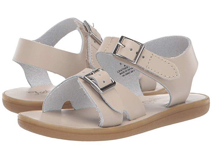 Leather Sandals-Tide Ecru