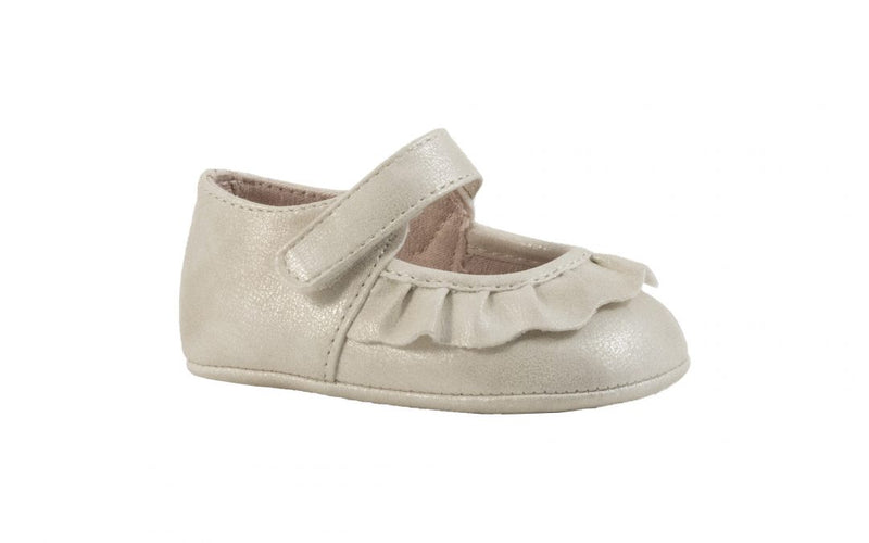 Kamdyn Scalloped Mary Jane Shoe-Ivory Soft Sole