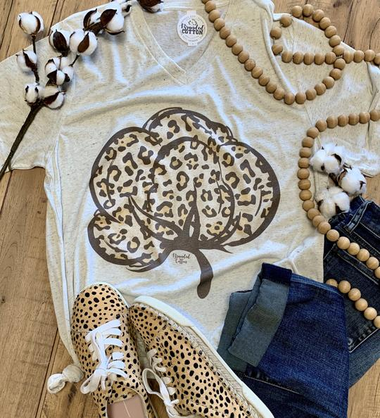 Leopard Cotton T-Shirt