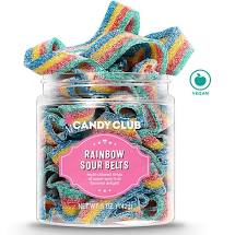Candy Club- Small Rainbow Sour Belts