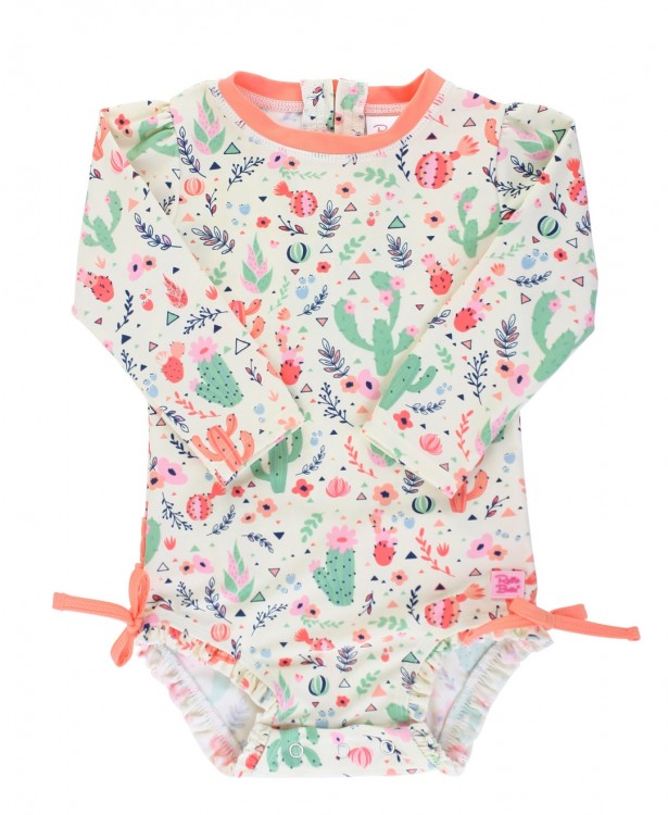 Desert Blossoms One-Piece Rash Guard