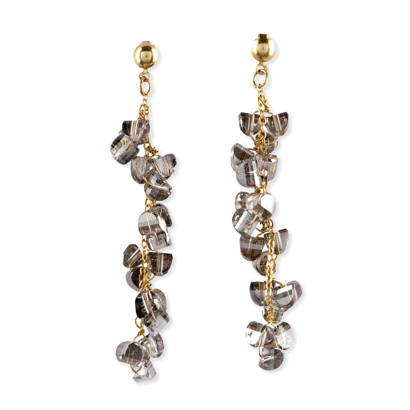 Hanging Crystal Bead Earrings
