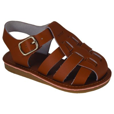 Brice Leather Fisherman Sandal-Tan