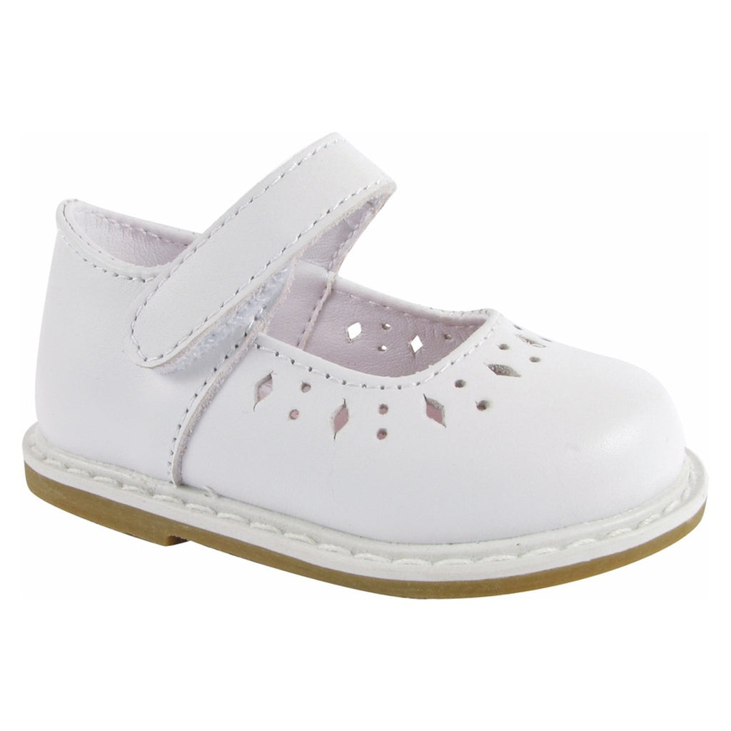 Laynie Leather One Strap Shoe-White