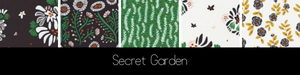 beeswax wrap secret garden collection black green white