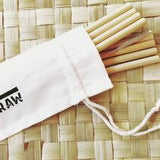 your straw bamboo party pack 8 reusable bamboo straws with cleaner