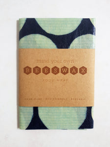 reusable beeswax wrap medium blue 30cm square