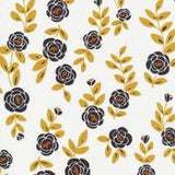 beesswax wrap mini 16cm floral white black mustard
