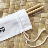 your straw personal pack 2 bamboo straws with cleaner
