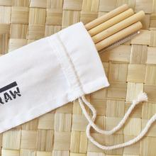 your straw picnic pack 4 bamboo straws with cleaner