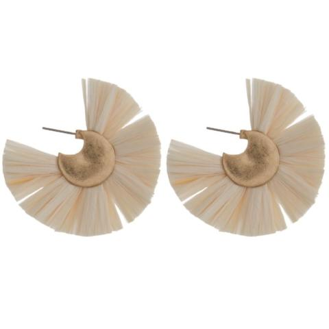 Ivory Round Earrings