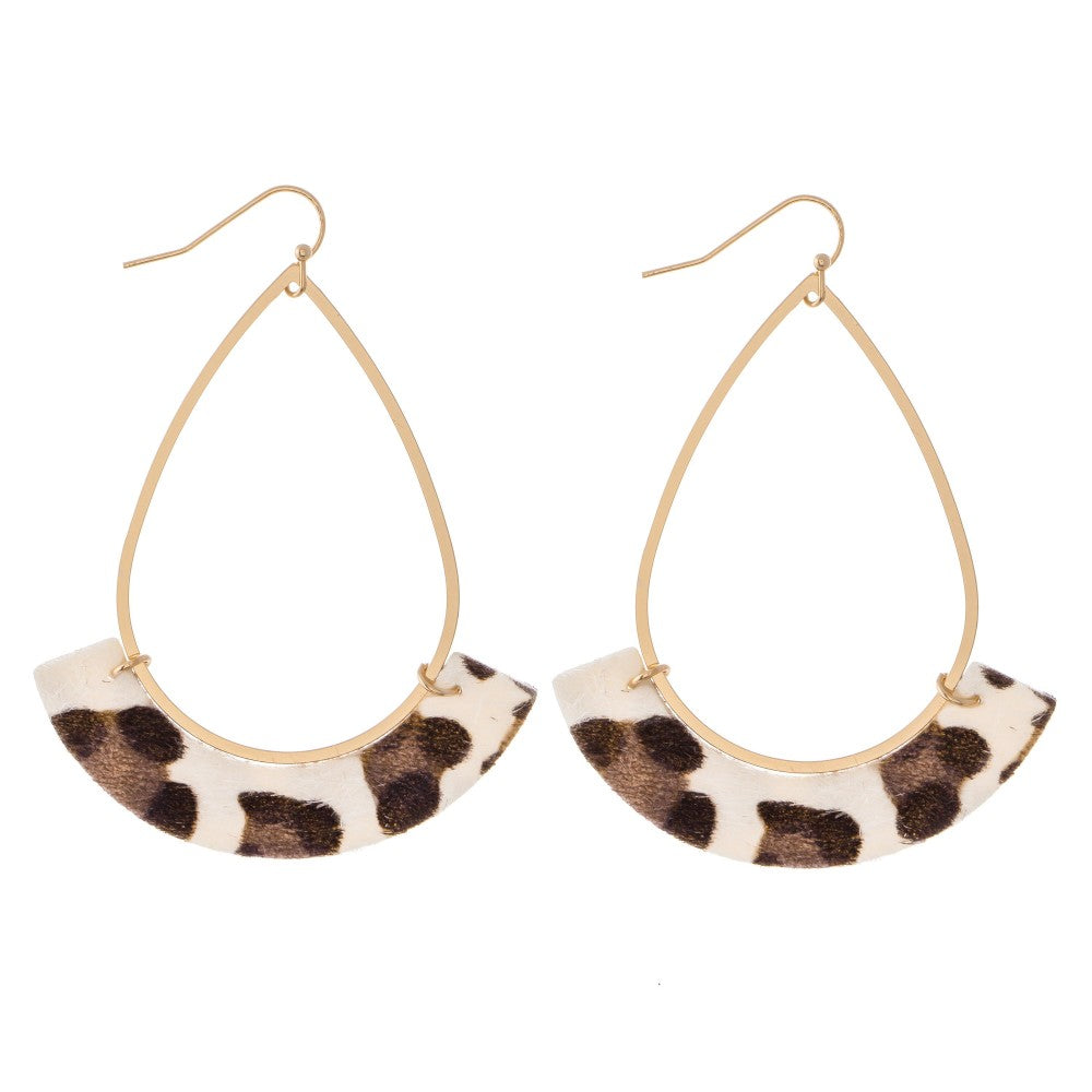 Napa Earrings - Animal Print