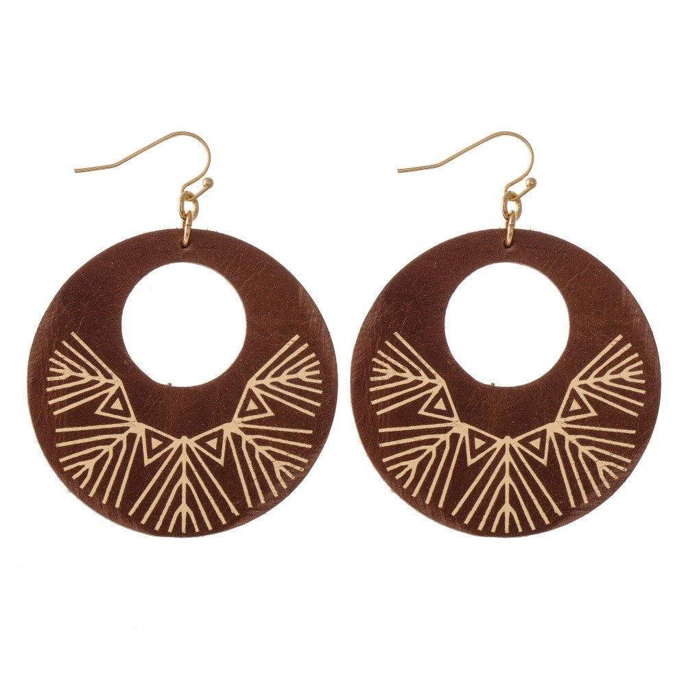 Camilla Leather Earrings