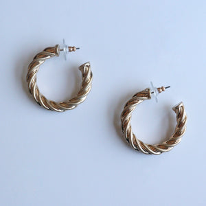 Twisted Gold Hoops