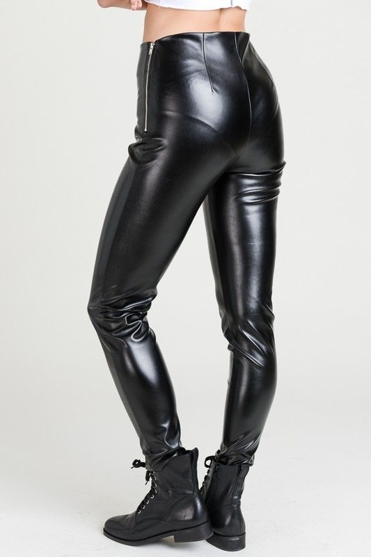 Black Leather Pants