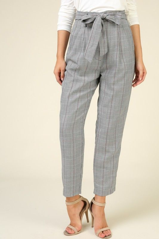 London Plaid Trousers