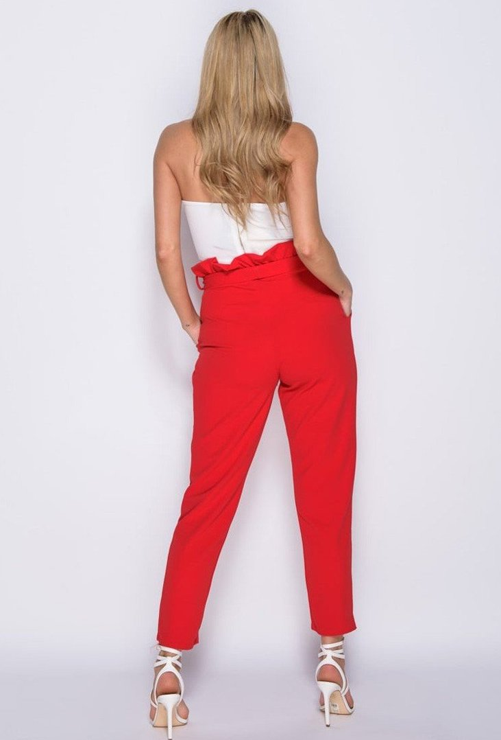 Red Paperbag Trouser
