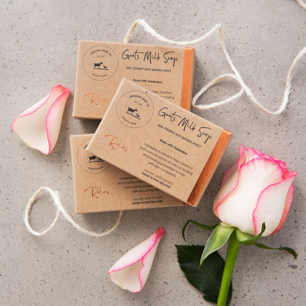 Goat milk soap rose soothe  nz made naturally