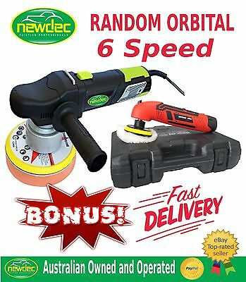 "POLISHER RANDOM ORBITAL 150MM CAR CORDLESS MINI BUFFER 6"" PAD RUPES BIGFOOT"