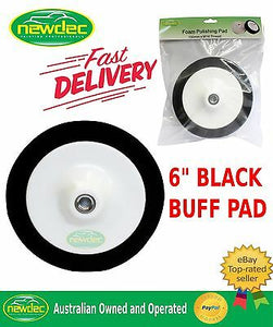"BLACK BUFF PAD 6"" FOAM 150MM POLISH SHINE DETAIL AUTO POLISHING PANEL"