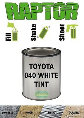 RAPTOR BY U-POL UPOL TINT 040 TOYOTA WHITE BED LINER TINT 2 PACK COATING