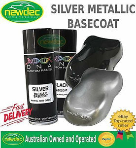 DNA SILVER METALLIC SPRAY PAINT 400ML CAR TOUCH UP AUTO METAL REPAIR CUSTOM FIX