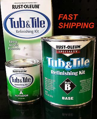 RUSTOLEUM TUB & TILE WHITE REFINISHING PAINT KIT TILES BATHTUB SINK SHOWER