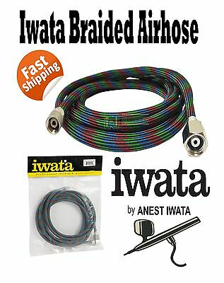 IWATA NEW BRAIDED AIR HOSE 3 METRE BT010 AIRBRUSH 3MTR AIR-BRUSH REVOLUTION