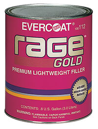 RAGE GOLD PREMIUM LIGHT WEIGHT FILLER WITH HARDENER BODY AUTO CAR DENT BOG PANEL