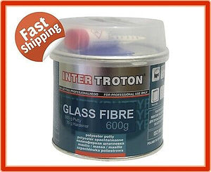 TROTON GLASS FIBRE 600G POLYESTER FILLER PUTTY INCLUDES HARDENER SAND PANEL BOG