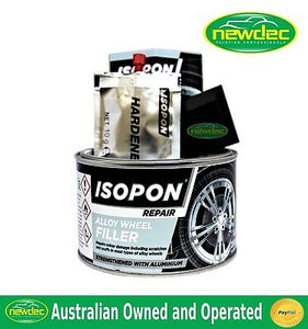 ISOPON ALLOY WHEEL FILLER KIT 250G EASY DIY RIM REPAIR DENTS CAR BOG RIMS WHEELS