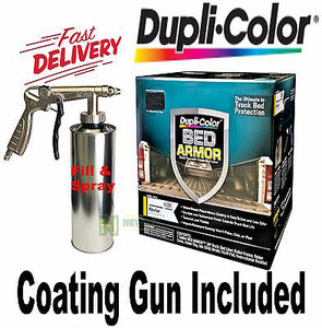 DUPLI COLOUR BED ARMOR BED LINER KIT SPRAY GUN UTE TRAY TRUCK TUB BAK2010 PAINT