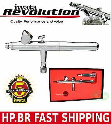 IWATA REVOLUTION AIRBRUSH HP.BR .3MM SPRAY PAINT GRAVITY ART KIT DIY GUN TATTOO
