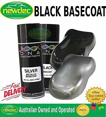 DNA BLACK BASECOAT SPRAY PAINT 400ML CAR TOUCH UP AUTO METAL REPAIR CUSTOM FIX