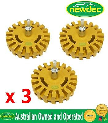 3 CARAMEL TRACTOR WHEEL PINSTRIPE REMOVER ERASER ADHESIVE TAPE PINSTRIPE REMOVAL