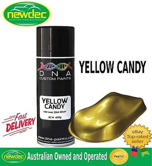 DNA CANDY YELLOW SPRAY PAINT TOUCH UP SUZUKI MOTORCYCLE AEROSOL COLOURS AUTO DIY