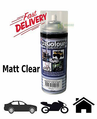 MATT CLEAR PAINT SPRAY 300gm PACK CAN TOUCH UP ACRLIC LACQUER COAT AUTO QUALITY