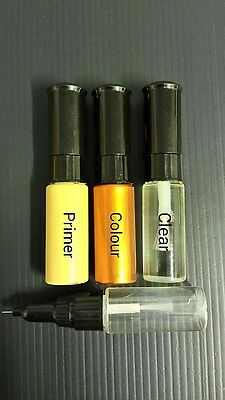 TOYOTA TOUCH UP PAINT KIT 3 BOTTLES BRUSH AND PEN MADE TO YOUR COLOUR CODE