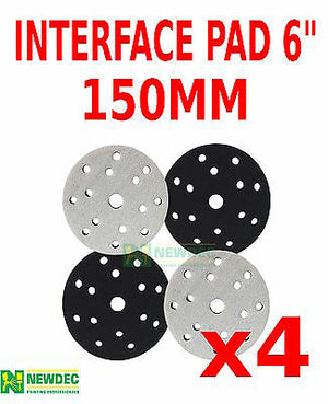 "INTERFACE PAD 150MM 6"" - 6+8+15 HOLE FOR PALM SANDER SOFT PAD 10MM THICK"