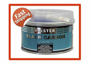 MASTER BLACK CARBON FILLER 1L POLYESTER PUTTY HARDENER INCLUDED DENT PANEL