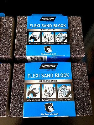 4 pcs NORTON FLEXI SANDING BLOCK MEDIUM/COARSE